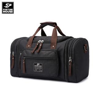 Túi xách du lịch cỡ đại vải bố vân xước Fortune Mouse 8642 có thể mở rộng thêm 2 bên hông kích thước 50x29x25cm thumbnail