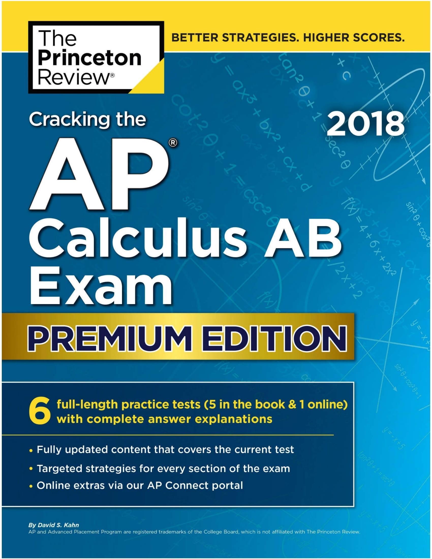 Mua Cracking the AP Calculus AB Exam, 2018 Edition