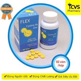 FLEX CYSTINE B6 ZINC - Viên uống chống rụng tóc đồng thời giúp mọc tóc nhanh trở lại và bóng mượt hơn cvspharmacy thumbnail