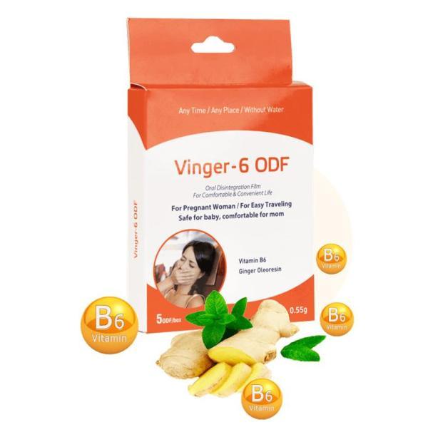 Giảm ốm nghén, giúp ăn ngon - Miếng ngậm Vinger 6 - ODF mẹ hết nghén, con lớn khỏe ( hộp 5 miếng)