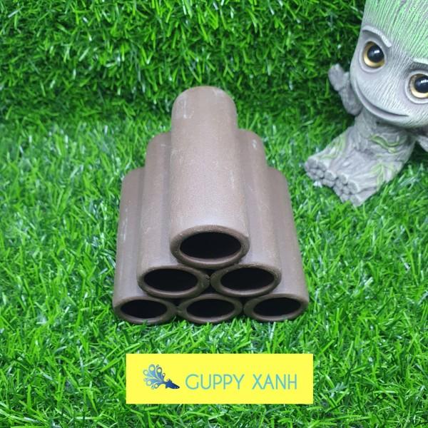 Đồ chơi cho tép - gốm nung trang trí cho thủy sinh - hồ cá - Guppy Xanh cam kết hàng đúng mô tả chất lượng đảm bảo