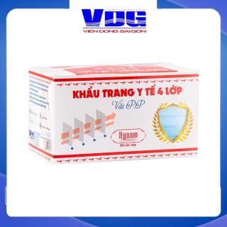 Khẩu trang y tế 4 lớp vải không dệt Hynam - (50 cái hộp) - Màu xanh thumbnail