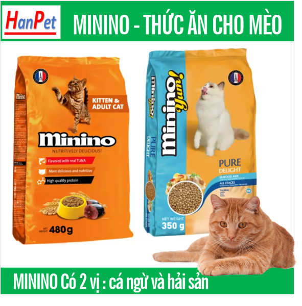 HN- MININO Thức ăn hạt phẩm chất Pháp Quốc cho mèo mọi lứa tuổi Minino