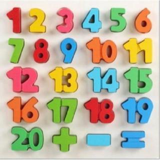 Bảng gỗ số nổi kèm dấu có hộp màu cho bé - BN33 thumbnail