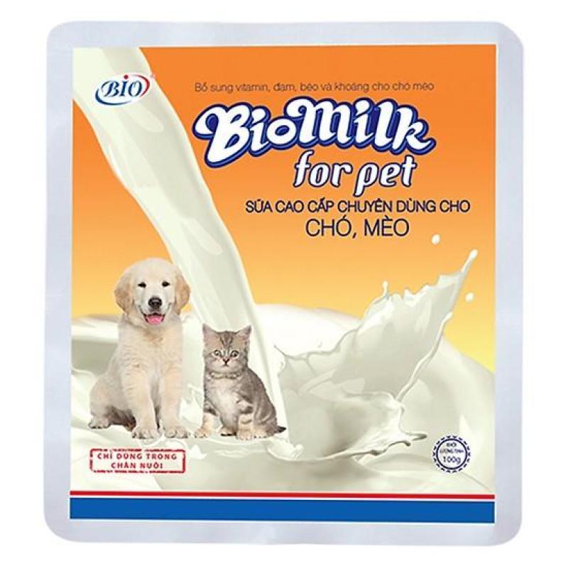 Sữa bột dinh dưỡng cho chó mèo Biomilk bịch 100gr