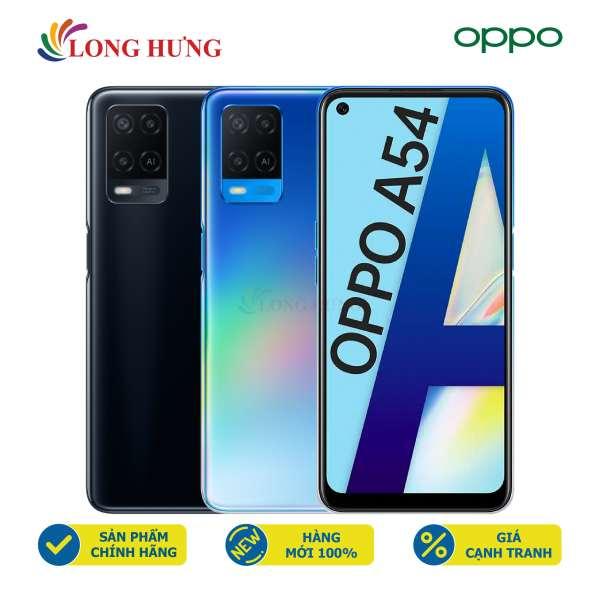 Điện thoại Oppo A54 (4GB/128GB) - Hàng chính hãng - Màn hình 6.5inch HD+, bộ 3 Camera sau, Pin 5000mAh