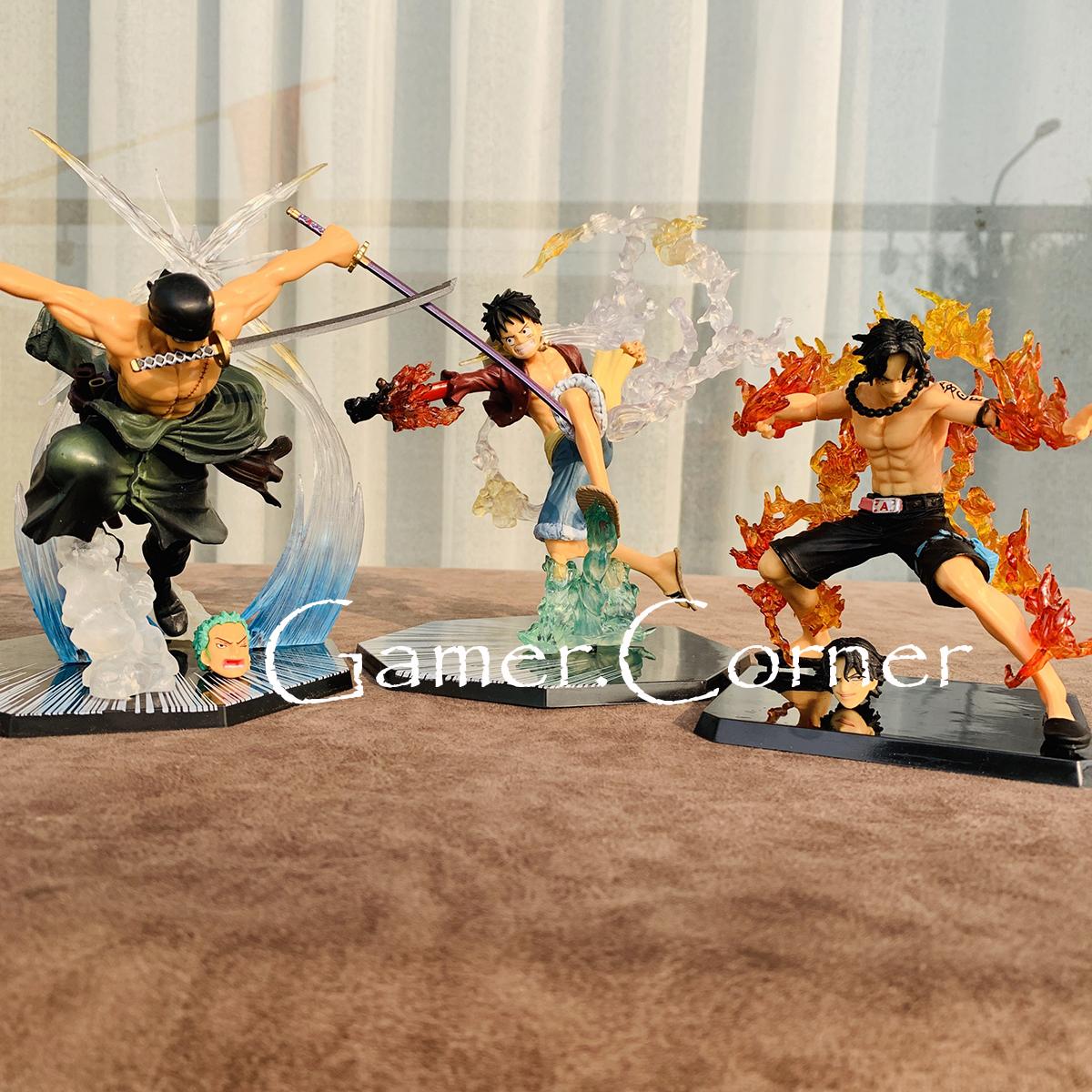 Mô hình one piece - Luffy Mũ Rơm, Zoro Tam Kiếm,  Ace Hỏa Quyền, Sanji Hắc Cước