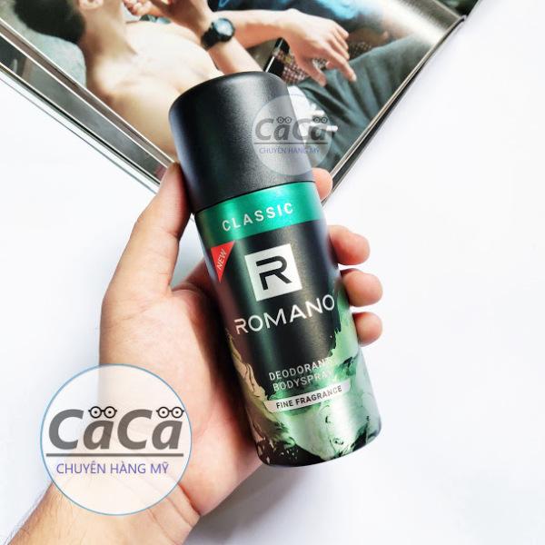 Xịt nước hoa toàn thân Romano Classic 150ml khử mùi, ngăn mồ hôi cao cấp