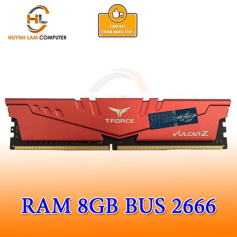 Ram 8GB Teamgroup T-Force Vulcan Z DDR4 2666MHZ Networkhub Phân phối - Tặng Chuột Gamdias 7309 Trị Giá 450K 3200DPI