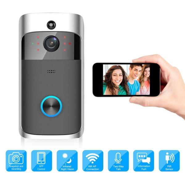 [Quà Tặng 189K] - Video Intercom Wireless WiFi Video Doorbell Camera IP 720P Two Way Audio Infrared Night Vision APP Control Via Smartphone - Chuông cửa chung cư tích hợp Camera IP Wifi IPBell - Chuông cửa không dây thông minh tích hợp Camera cao cấp