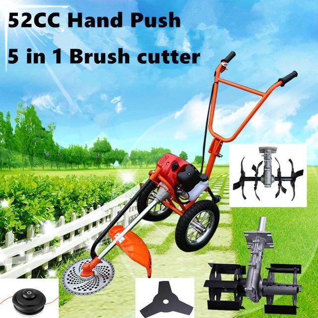 Bộ máy làm vườn mini đa năng, máy xạc cỏ, xới đất, cắt cỏ đẩy tay Honda GX35