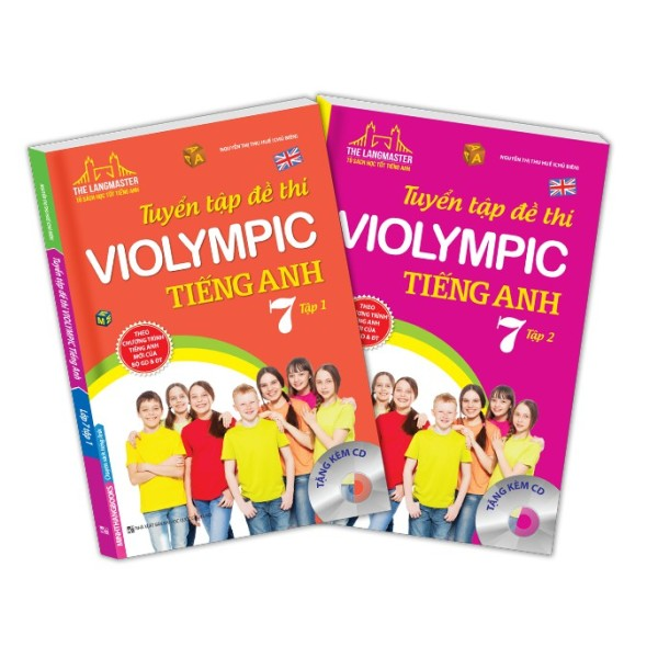 Sách - Combo tuyển tập đề thi VIOLYMPIC tiếng Anh lớp 7(trọn bộ 2 cuốn)