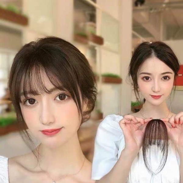 Tóc mái thưa giả màu Style Hàn Quốc - Tóc mái giả thưa có mai 2 bên xinh xắn cao cấp