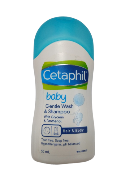 Sữa tắm gội 2 trong 1 Cetaphil Baby Gentle Wash & Shampoo 50ml nhập khẩu