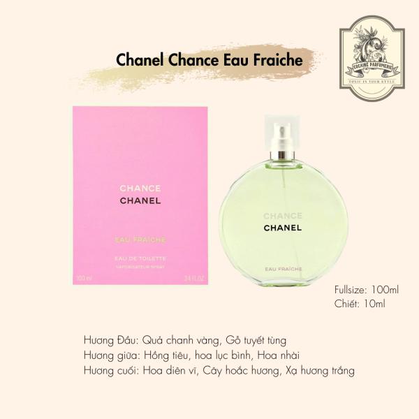 [Nhập Khẩu Chính Ngạch] Nước Hoa Nữ Chính Hãng Chanel Chance Eau Fraiche EDT 100ml