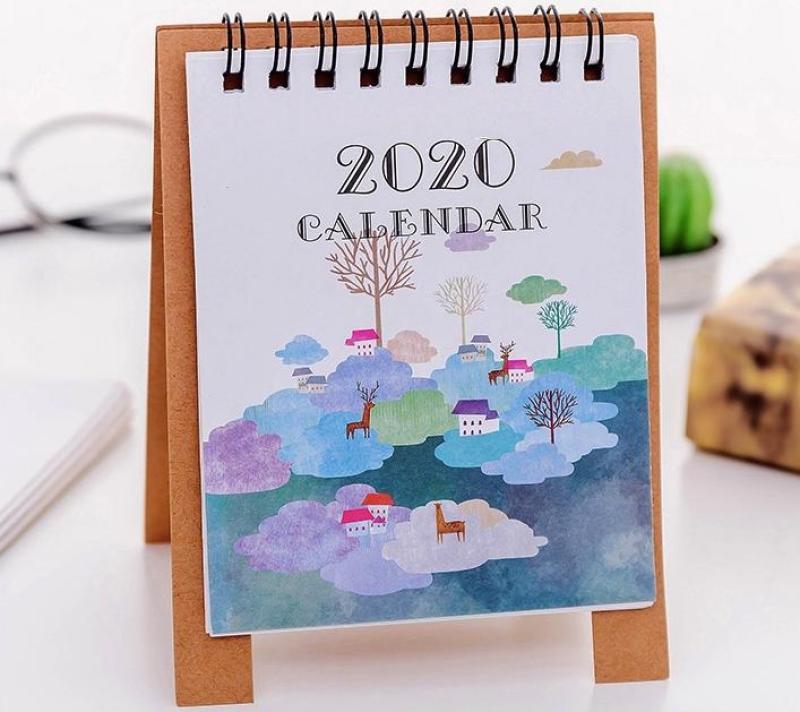 Lịch Để Bàn 2020 - Mẫu Mới Nhất