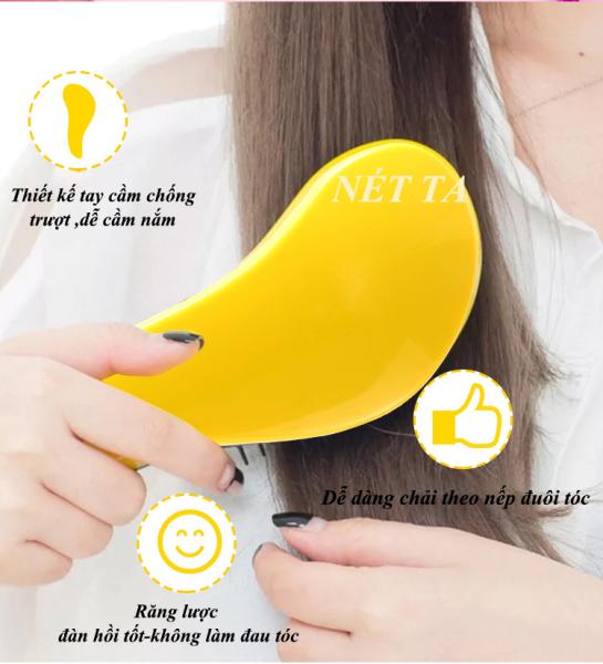 Lược chải tóc gỡ rối đa năng chống rối, hỗ trợ gội đầu thuận tiện ( Màu ngẫu nhiên)