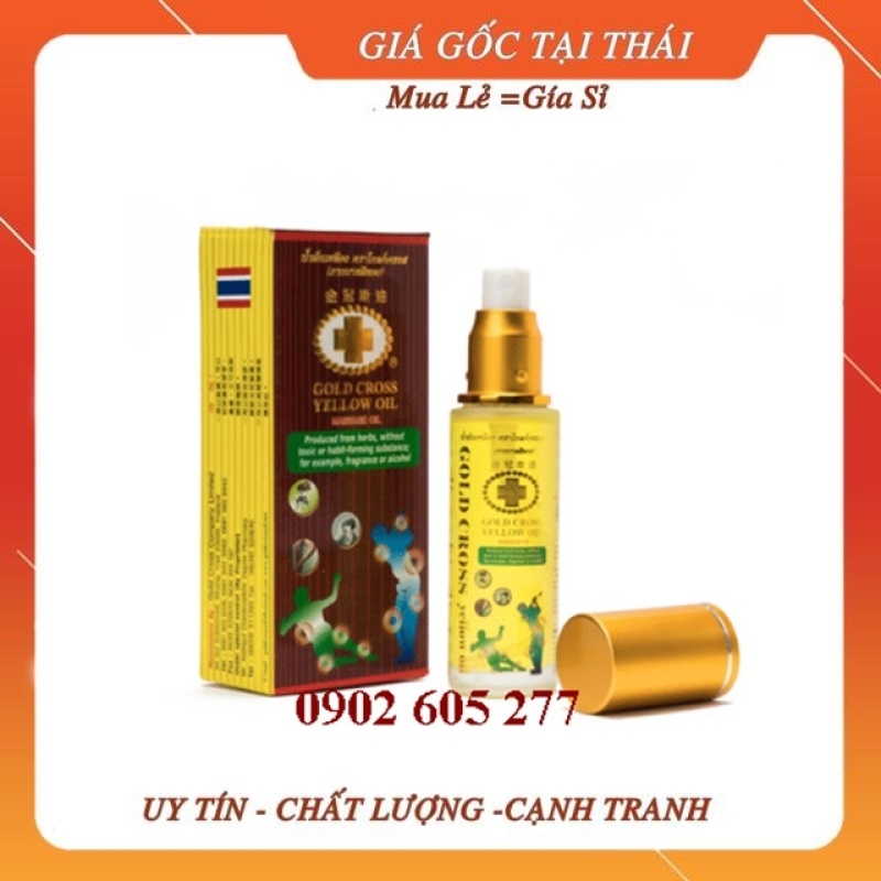 Dầu Thái Lan ,Dầu thập tự vàng thái lan(đa công dụng) 48ml có vòi xịt, dầu gió thái lan cao cấp