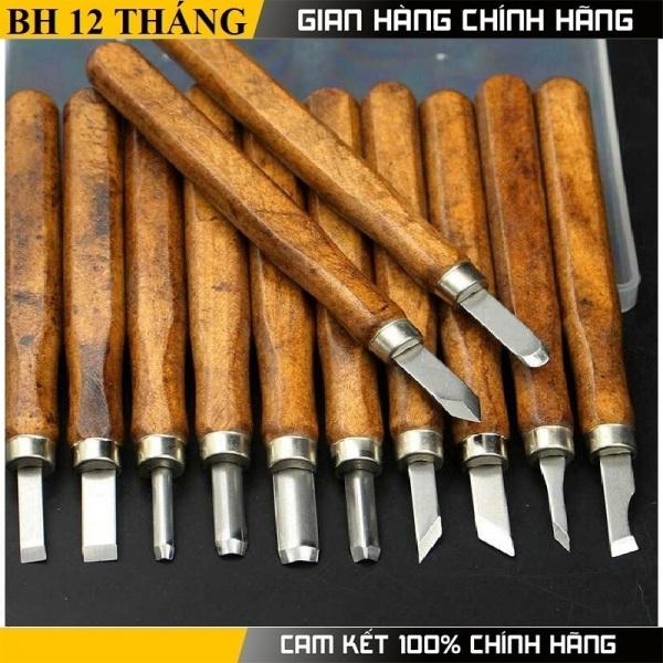 Bộ 12 dao khắc gỗ , đục tiện gỗ đa năng cao cấp