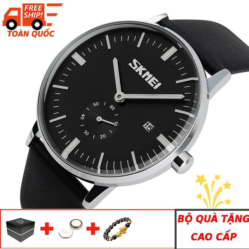 Đồng hồ nam dây da cao cấp chống nước SKMEI SK007 - Arman Watches (Đen)