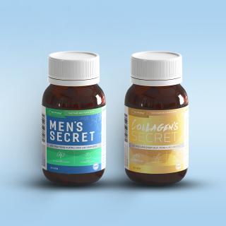 Combo thực phẩm hỗ trợ tăng cường sinh lý nam giới và hỗ trợ làm chậm quá trình lão hoá da - Men s Secret và Collagen s Secret thumbnail
