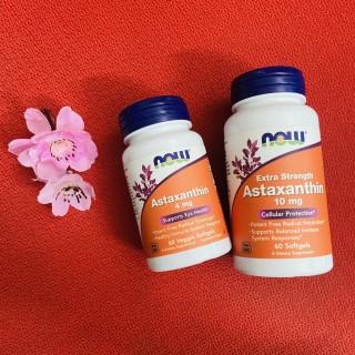 Now Astaxanthin 4mg - 10mg 60 Viên - Vitamin Tăng Sức Đề Kháng - Hãng Mỹ - Muscle Fitness thumbnail