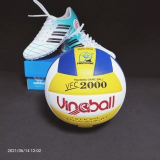 bóng chuyền tặng kim+ túi lưới bóng chuyền da cao cấp thumbnail