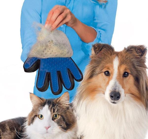 Găng tay vuốt lông tắm cho thú cưng - Cutepets