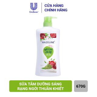 Sữa Tắm Hazeline Matcha & Lựu Đỏ - Sáng Mịn Đều Màu (Chai 670g) thumbnail