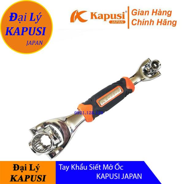 Tay khẩu siết mở ốc KAPUSI JAPAN -Tay vặn ốc,cờ lê đa năng 8 cỡ đầu 8-19mm