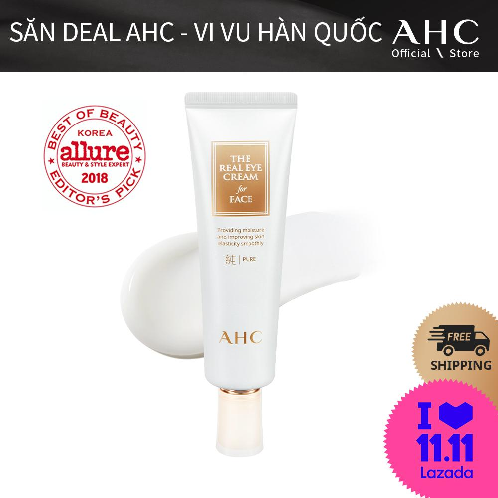 [DEAL 11.11] Kem Dưỡng Ẩm 2in1 Cho Mắt Và Mặt AHC The Pure Real Eye Cream For Face (60ml)