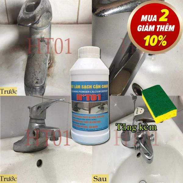 HT01 Tẩy cặn canxi trên inox,thiết bị vệ sinh cực mạnh+tặng ngay pat chà để sử dụng khi mua sản phẩm
