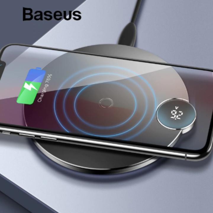 Đế sạc nhanh không dây Baseus WXSX-01 cho Apple iPhone 8/ iPhone X/ XS Max/ Samsung S8/ S9/ Note 9 ( 7.5W/ 10W, Qi Wireless Quick Charger )