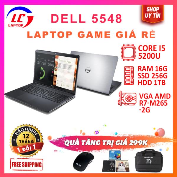 Bảng giá Laptop dell 5547 core i5-4210u, laptop chơi game đồ họa cơ bản giá rẻ , cạc vga amd r7m265, màn 15.6inch hd, vỏ nhôm Phong Vũ