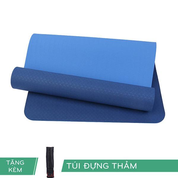 Thảm Yoga Tpe Rl Eco 6Mm 2 Lớp Màu Xanh Dương Tặng Kèm Túi
