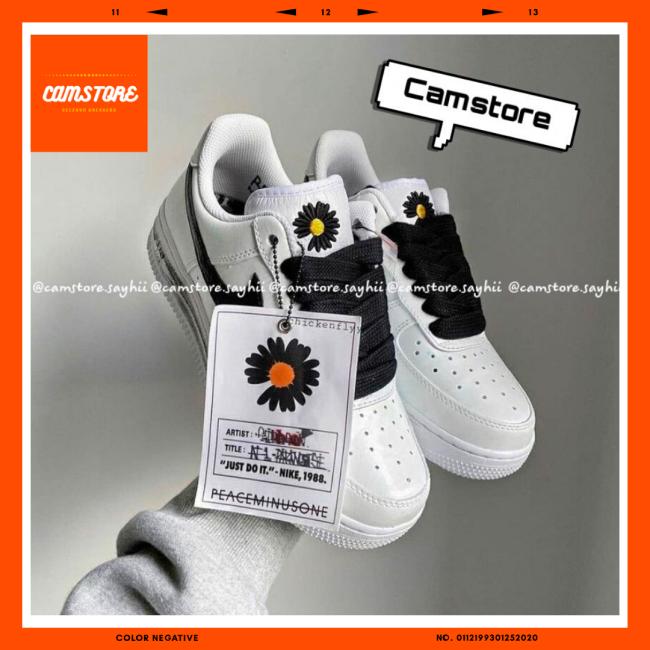 Giày Thể Thao Nam Nữ Tróc Sơn Sneaker Hoa Cúc Air Force 1 Paranoise Đen Phiên Bản G.Dragon giá rẻ