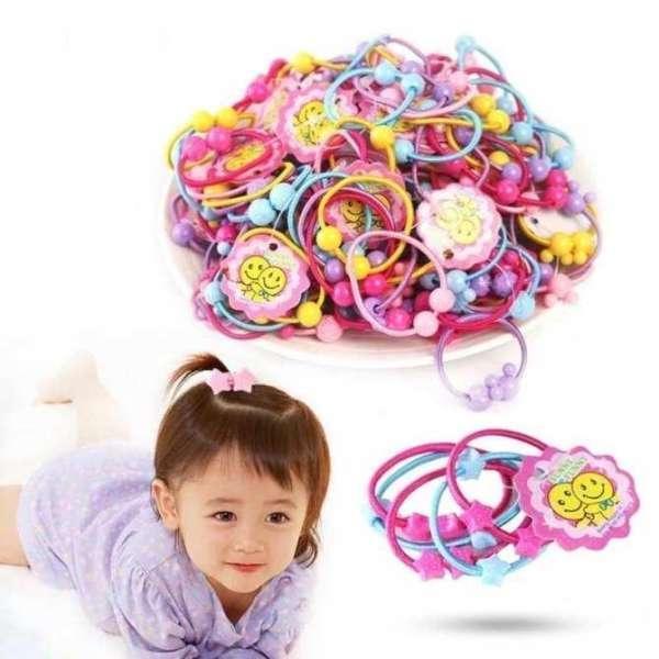 Giá bán Bộ 50 dây buộc tóc dễ thương cho bé gái
