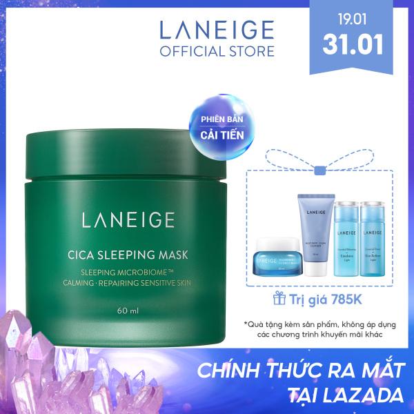 Mặt nạ ngủ dưỡng ẩm giúp phục hồi và nuôi dưỡng da phiên bản cải tiến LANEIGE Cica Sleeping Mask 60ml giá rẻ