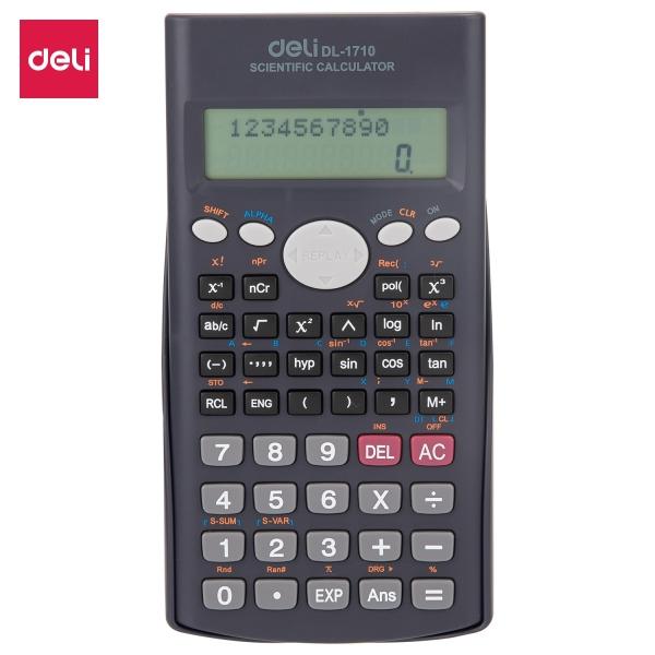 Mua Máy tính kỹ thuật 12 số DELI - 240 chức năng, màu Đen - 1 cái - E1710