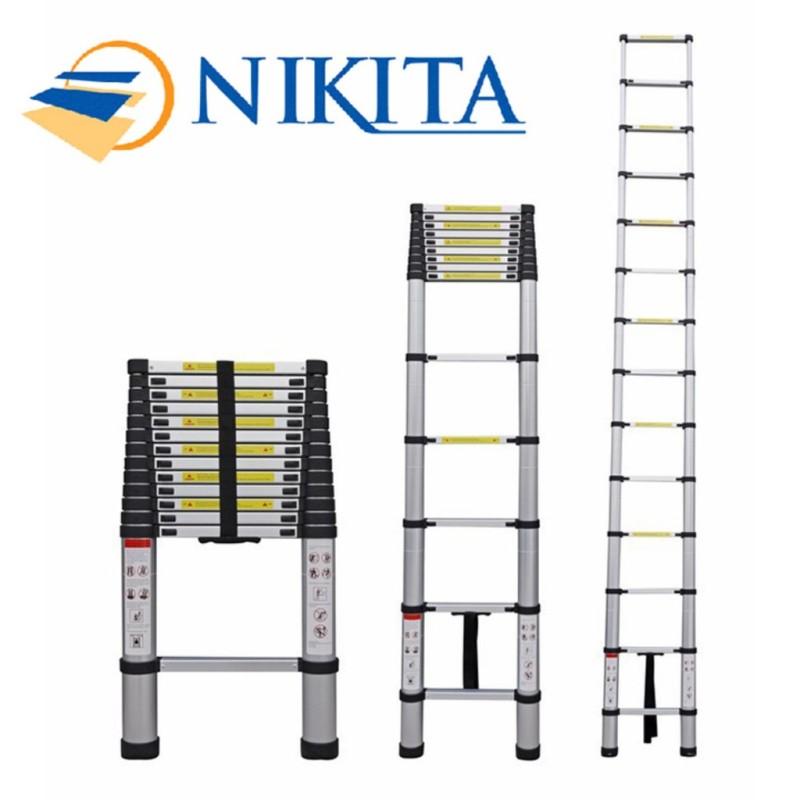 [HCM]Thang nhôm rút đơn xếp gọn Nikita Nhật Bản R26R32R38R41R50R54R58R62 (TỪ 2.6M ĐẾN 6.2M)