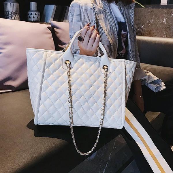 Rhombus Chain Big Book Bags Female 2020 Spring New Style Handbag Fashion Large Capacity Shoulder Bag Versatile WOMENS Bag Fashion