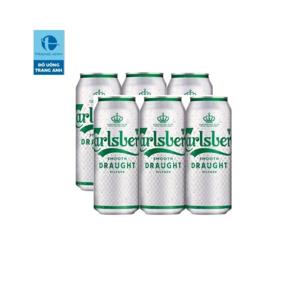Bia Carlsberg Premium Smooth lon - lốc 6 lon 500ml