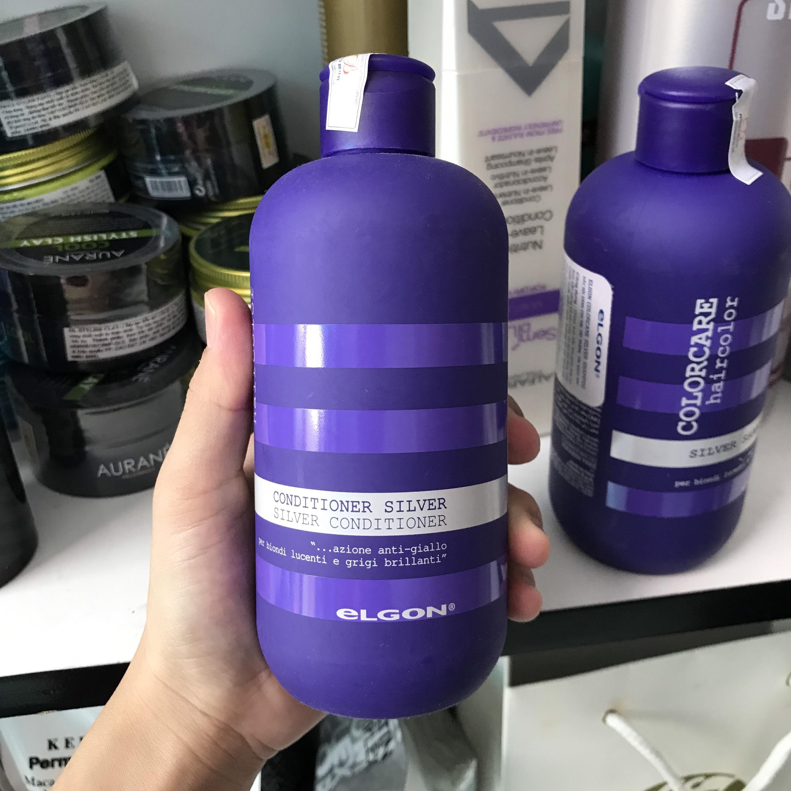 Dầu xả chăm sóc tóc tẩy trắng, bạch kim Elgon Silver Colorcare Conditioner 300ml chính hãng