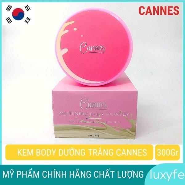 Kem body trắng da cannes luxyfe ( CHÍNH HÃNG ) dưỡng trắng da hương nước hoa dịu nhẹ (200g), làm mờ các vết sẹo nhỏ, nám nhẹ