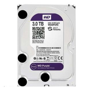 Ổ cứng gắn trong HDD Western Digital Purple 3TB, SATA 3, 64 Cache - Ổ cứng chuyên dụng cho Camera - Bảo hành 24 tháng 1 đổi 1 thumbnail
