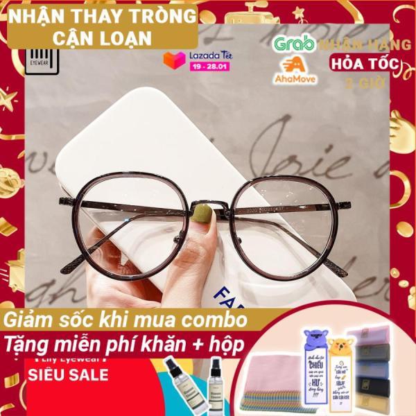 Mua [Lấy mã giảm thêm 30%]Gọng kính cận mắt tròn kim loại thời trang nam nữ Lilyeyewear 9020 nhiều màu