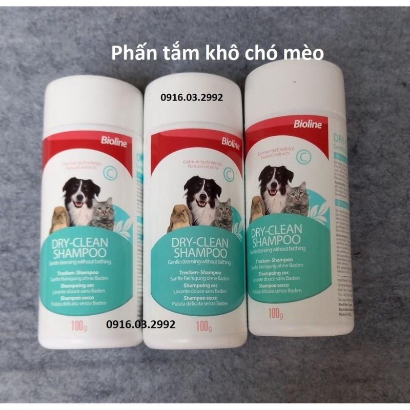 Phấn Tấm Khô Cho Chó Mèo Bioline