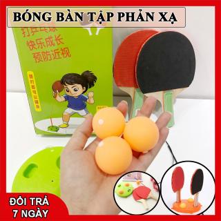 Bóng bàn luyện phản xạ - Bộ đồ chơi bóng phản xạ - Dụng cụ tập đánh bóng bàn cho mọi lứa tuổi (2 vợt gỗ +bóng+ dây+ đế) BR01 thumbnail