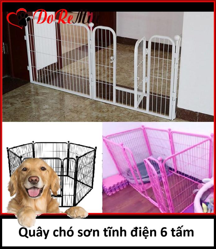 HN-SP933 - QUÂY SẮT XỊN 6 TẤM – Quây chó, hàng rào chó 6 tấm 2 size