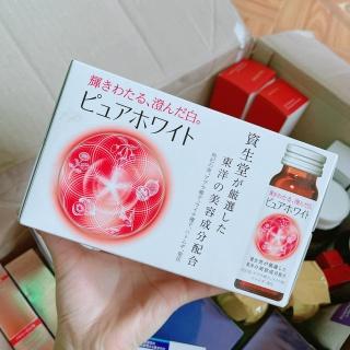 HỘP 10 ỐNG - Nước Uống Trắng Da Collagen Shiseido Pure White Nhật Bản thumbnail